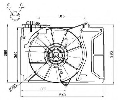 Вентилятор, охлаждение двигателя Toyota 1671123050