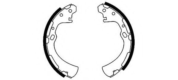 Барабанные тормозные колодки Nissan DD06005N25