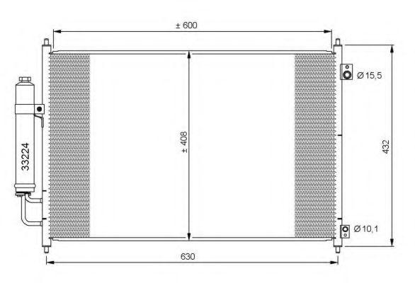 Радиатор кондиционера KOYORAD CD020427