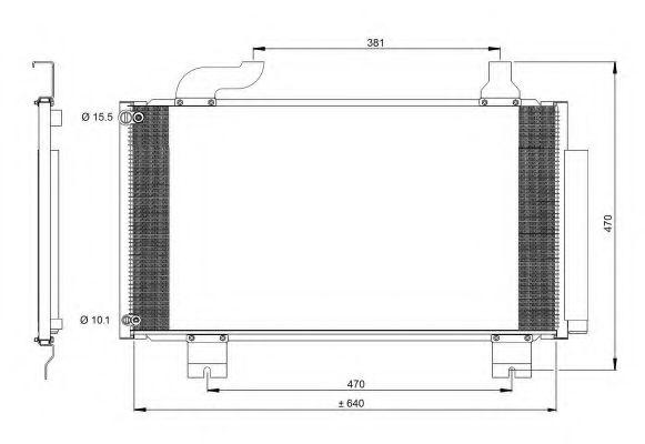 Радиатор кондиционера KOYORAD CD080417