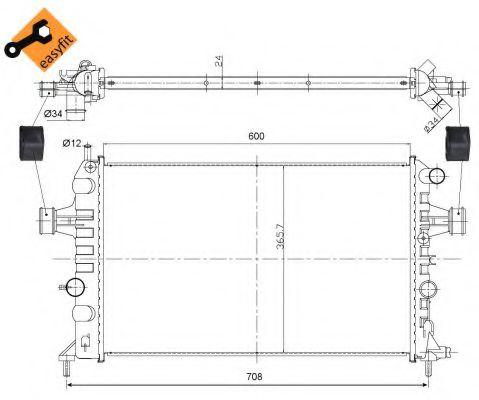Радиатор охлаждения двигателя FPS FP52A288