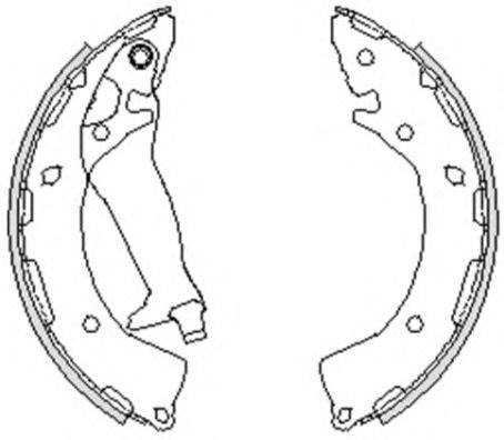 Колодка тормозная задняя барабанная KAP Z07SHORR02074