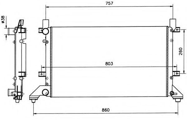 FPS - FP74A755P Радиатор