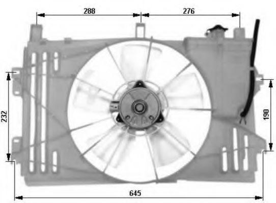 Вентилятор радиатора Toyota 163630D100