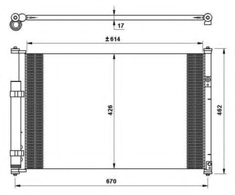 Радиатор кондиционера KOYORAD CD100505