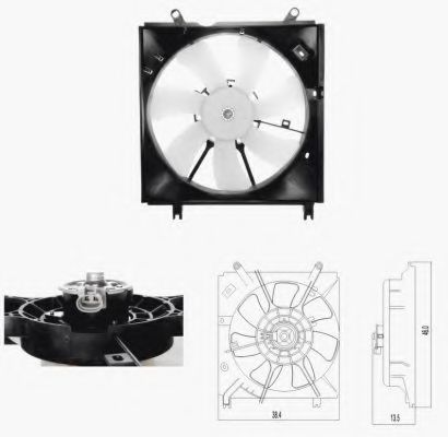 Вентилятор радиатора Toyota 1636323010