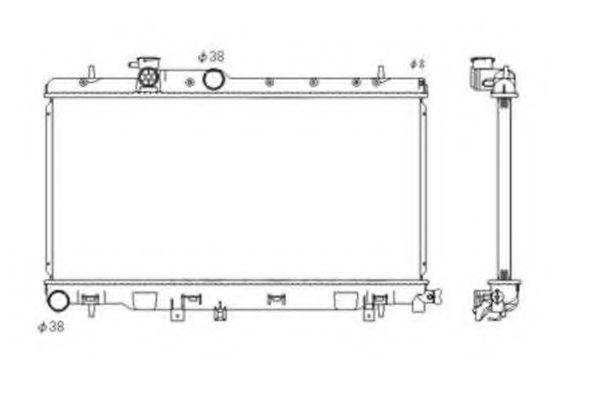 Радиатор Subaru 45111FE101