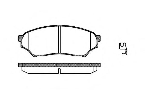 Колодки тормозные дисковые передние, комплект BENDIX 572499B