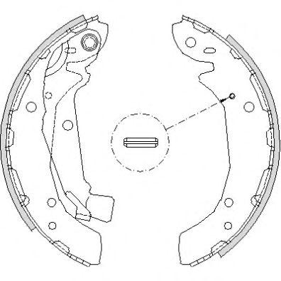 Колодка тормозная задняя барабанная KAP Z07SHORR02056