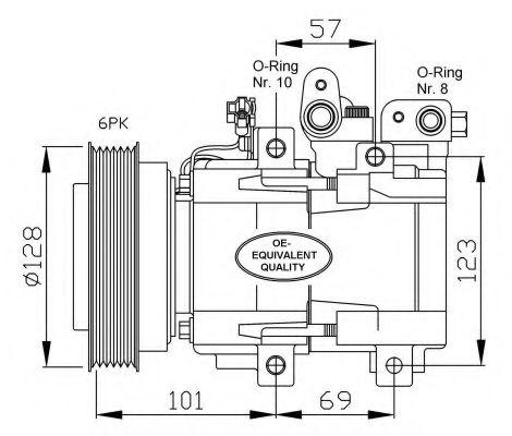 Компрессор кондиционера Hyundai/Kia 977013A671