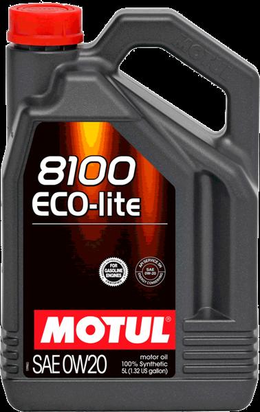 Масло моторное синтетическое 8100 ECO-LITE 0W20, 5л MOTUL 841151