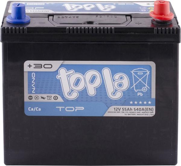 Topla - 118255 Аккумулятор ПРАВ [+] 12V 55AH 540A 236*128*202/223 Top Energy