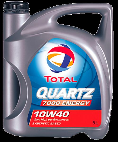 Масло моторное QUARTZ 7000 ENERGY 10W-40, 5л Total 201537