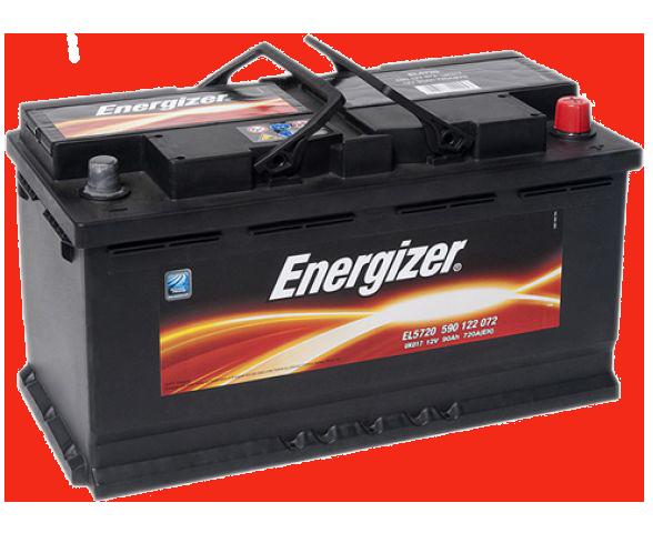 Аккумулятор 90Ah-12v (353х175х190), R, EN720 Energizer 590122072