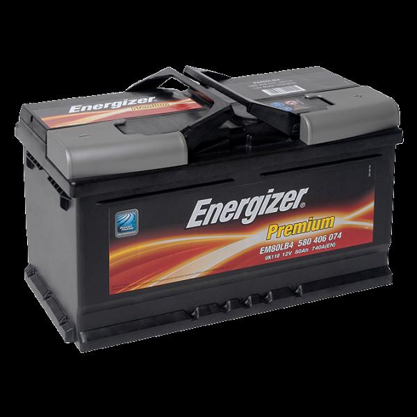 Аккумулятор 80Ah-12v Premium (315х175х175), R, EN740 Energizer 580406074