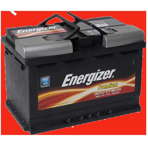 Аккумулятор 77Ah-12v Premium (278х175х190), R, EN780 Energizer 577400078