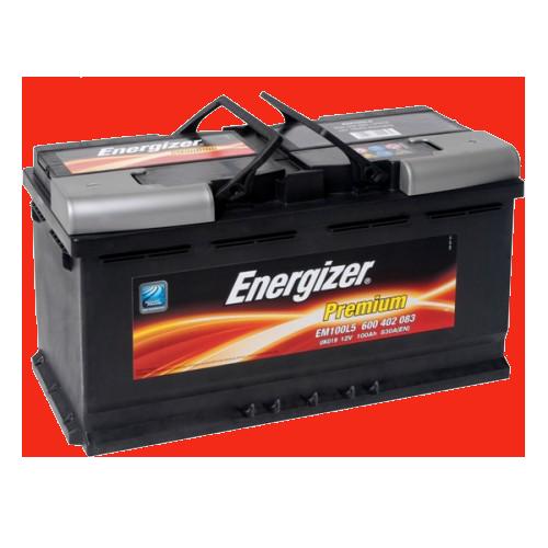 Аккумулятор 100Ah-12v Premium (353х175х190), R, EN830 Energizer 600402083