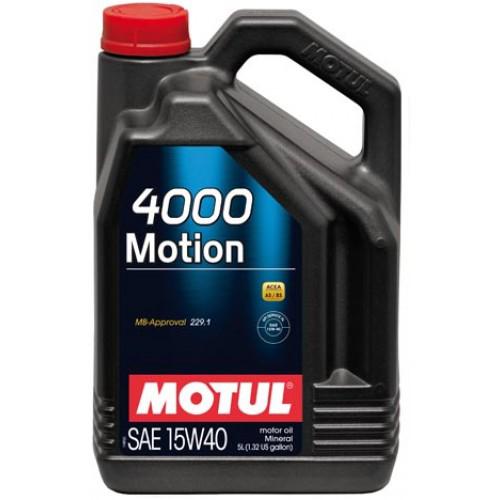 Масло моторное минеральное 4000 MOTION 15W-40, 5л MOTUL 386406