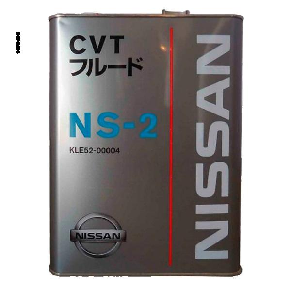 Масло трансмиссионное CVT NS-2, 4л Nissan KLE5200004