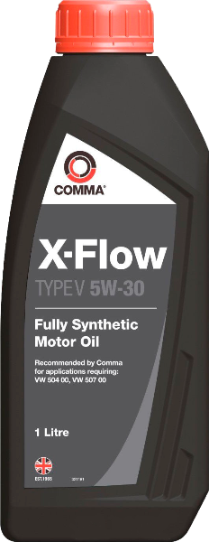 Масло синтетическое X-FLOW V 5W-30, 1л COMMA XFLOWV5W301L