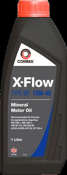 COMMA - XFLOWMF15W40MIN1L Масло минеральное X-FLOW MF 15W-40, 1л