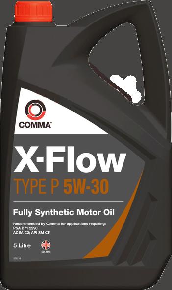 Масло синтетическое X-FLOW P 5W-30, 5л COMMA XFLOWP5W30SYNT5L