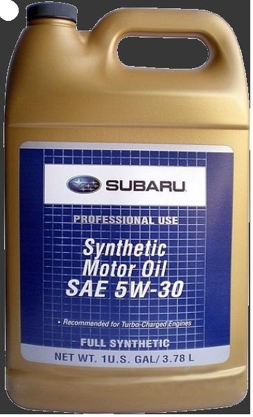 Масло моторное 5W-30, 4л Subaru SOA868V9285