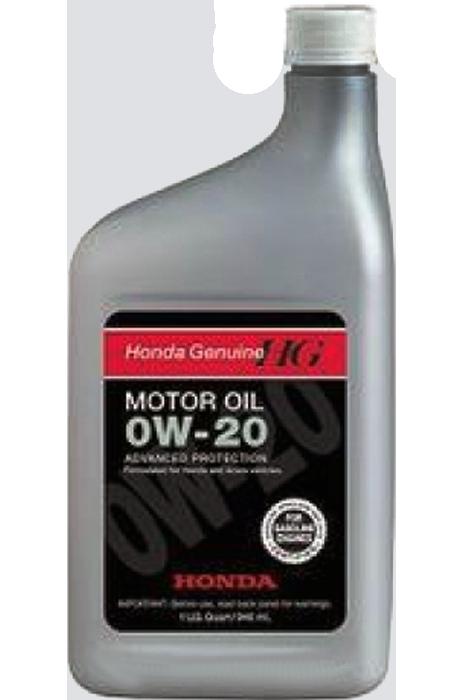 Масло моторное синтетическое SL 0W-20, 1л Honda 087989029