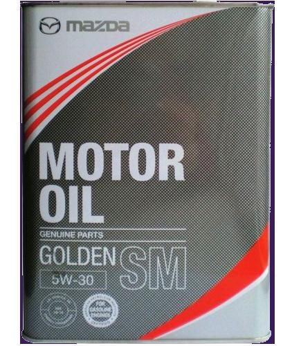 Масло моторное полусинтетическое Golden SM 5W-30, 4л Mazda K004W0512J