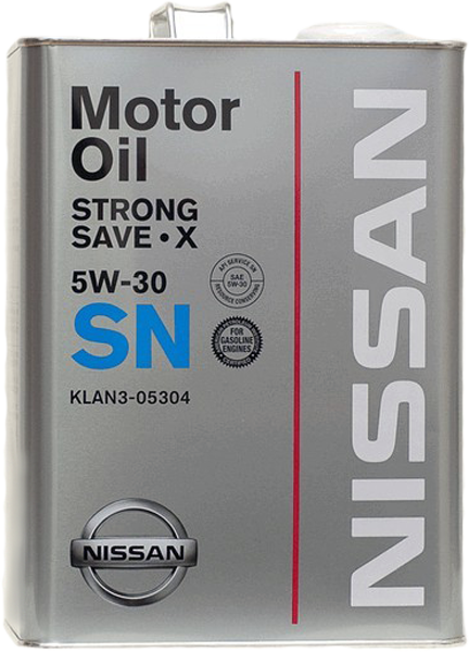Масло моторное Strong Save X 5W-30, 4л Nissan KLAN305304