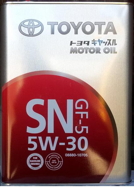 Масло моторное SN 5W-30, 4л Toyota 0888010705