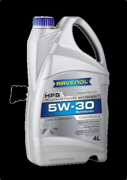 Масло моторное полусинтетическое HPS 5W-30, 4л RAVENOL 4014835722897