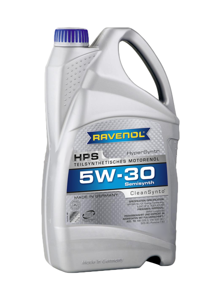 Масло моторное полусинтетическое HPS 5W-30, 5л RAVENOL 4014835722859