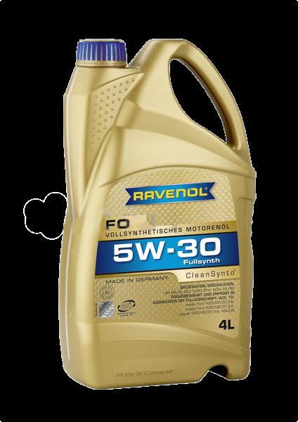 Масло моторное синтетическое FO 5W-30, 4л RAVENOL 4014835722699