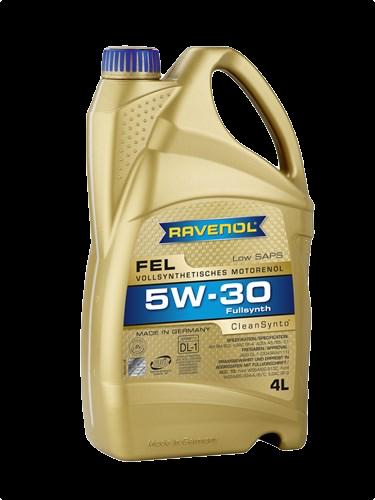 Масло моторное синтетическое Fel 5W-30, 4л RAVENOL 4014835723498
