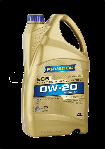 Масло моторное синтетическое ECS EcoSynth 0W-20, 4л RAVENOL 4014835718593
