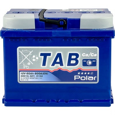 Аккумулятор 60 Ah/12V TAB Polar Blue (1) TAB 121160