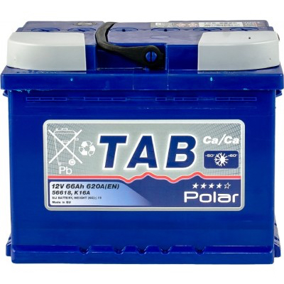 Аккумулятор 66 Ah/12V TAB Polar Blue (0) Euro TAB 121066