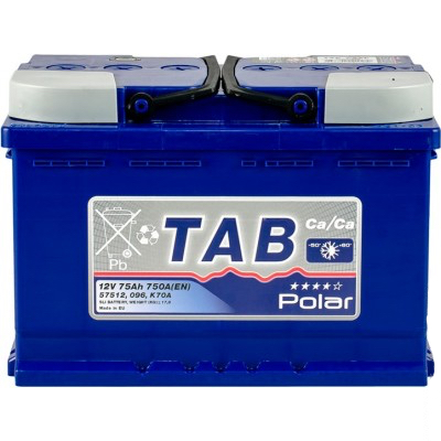 Аккумулятор 75 Ah/12V TAB Polar Blue (0) Euro TAB 121075