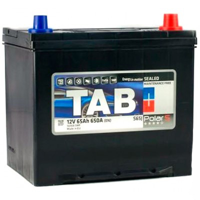 Аккумулятор 65 Ah/12V TAB Polar S (0) Euro Japan TAB 246865