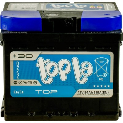 Аккумулятор 54 Ah/12V TOP Euro (0) Topla 118654