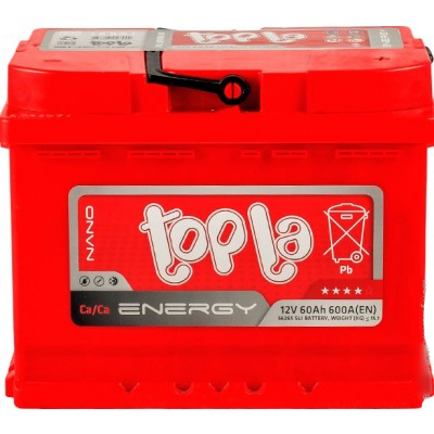 Аккумулятор 60Ah/12V Energy Euro (0) Topla 108060