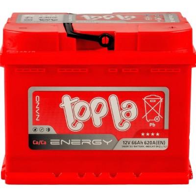 Аккумулятор 66Ah/12V Energy Euro (0) Topla 108066