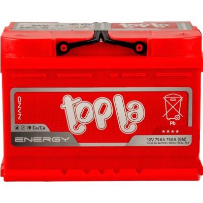 Аккумулятор 75Ah/12V Energy Euro (0) Topla 108275