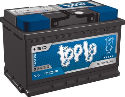Аккумулятор 75 Ah/12V TOP Euro (0) Topla 118072