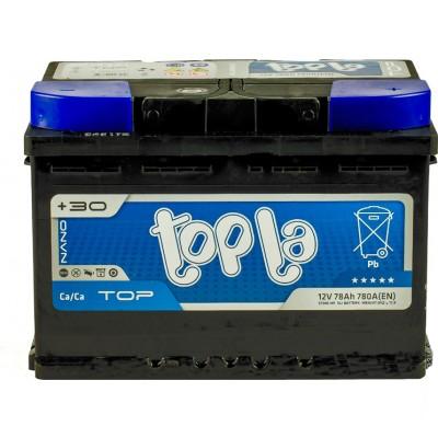 Аккумулятор 78 Ah/12V TOP Euro (0) Topla 118678