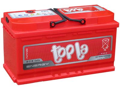 Аккумулятор 100Ah/12V Energy Euro (0) L4 Topla 108000