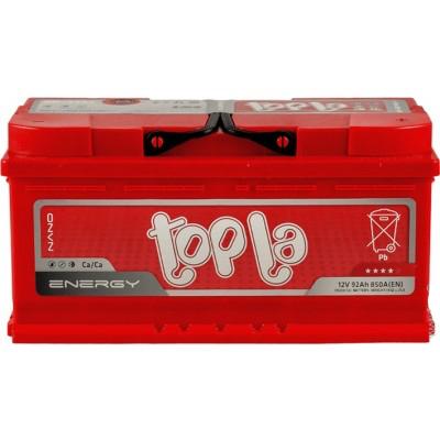 Аккумулятор 92Ah/12V Energy Euro (0) низкий Topla 108092
