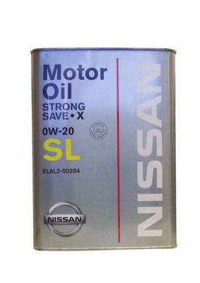 Масло моторное полусинтетическое Strong Save-X 0W-20, 4л Nissan KLAL200204