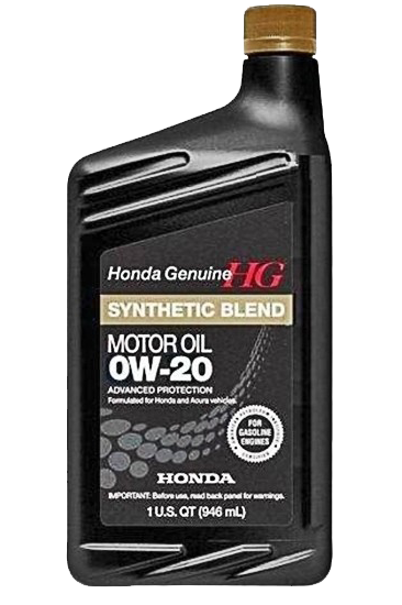 Масло моторное Synthetic Blend 0W-20, 1л Honda 087989036